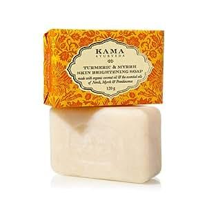 Kama Ayurveda Turmeric and Myrrh Skin Brightening Soap, 125g