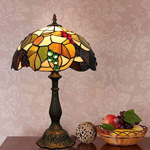NMBE-light 12-Zoll-Glasmalerei Tiffany Tischlampe, Schlafzimmer Nachttischlampe E27, B30 cm + H48 cm