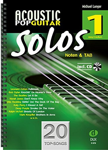 Acoustic Pop Guitar Solos 1: Noten & TAB - easy/medium