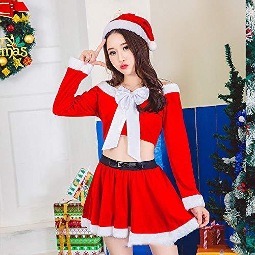 Shisky Weihnachtskostüme,Weihnachtskostüm Weihnachten Magd Charakter verkleiden grünen Weihnachtsbaum Kleidung Party Leistung Kostüm ()