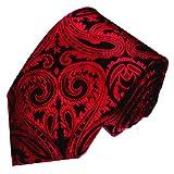Lorenzo Cana - Rot Schwarz Paisley Krawatte aus 100% Seide - Paisley Barock Muster - 84384