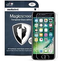 iPhone 7 (1-Pack) Pellicola Protettiva in Vetro Temperato, MediaDevil Magicscreen Crystal Clear (Invisibile) - (1 x Pellicola Frontale)