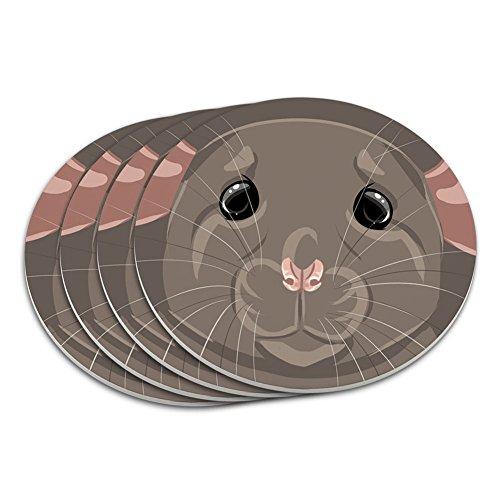 Nagerkäfig für Ratte Maus Untersetzer-Set