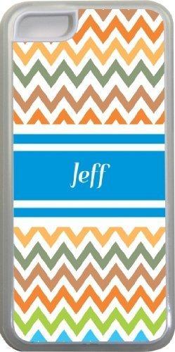 Jeff Chevron Bleu Nom Design Iphone 5C Coque (Transparent) avec protection pare-chocs en caoutchouc pour Apple iPhone 5C Étui vendre sur zeng