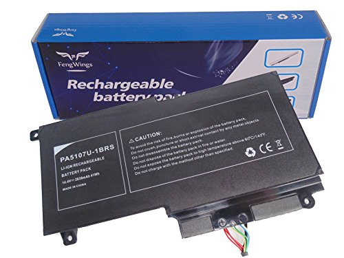 FengWings batería para 14.4V 2838mAh Toshiba Satellite PA5107U-1BRS L40-A L50-A C50-A l55-a S55-A P50T-A p55-a