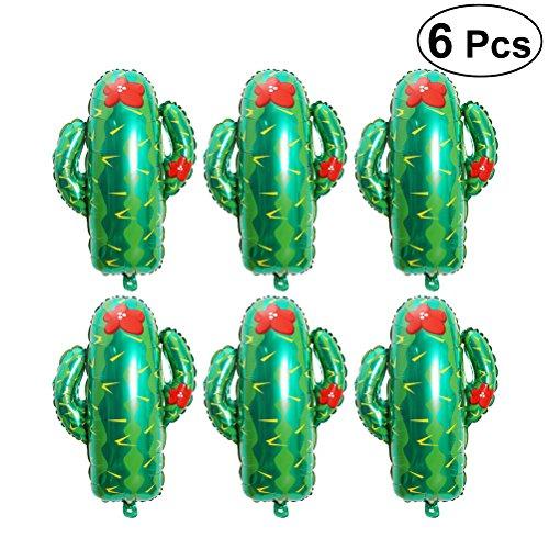 YeahiBaby 73 cm Kaktus Folien Luftballons | Hawaii Western Ballons, 6er Pack, Party Zubehör