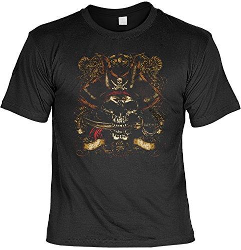 Unbekannt Fluch der Karibik Piratenkopf Motiv Übergrössen: Bonehead (Größe: 5XL) - T-Shirt bedruckt - Bonehead Kurzarm-shirt