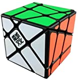 moyu yj crazy fisher speed-puzzle cubo, colore: nero