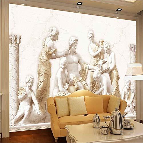 Hnsd 3D Wandbild Benutzerdefinierte Fototapete 3D eine römische Statuen Wandkunst Wand Wohnzimmer Retro Sofa Hintergrund 3D Tapete Wandbild Wandmalerei 200x140CM