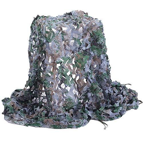 WEIFAN Tarnnetz, für die Haut, Schlafzimmermaske, Camouflage, Netz, Tarnmuster, Oxford-Stoff, ideal für Sonnenschirm, Zelt, Camping, Schießen, Jagd, Polyester, A1, 10x10m