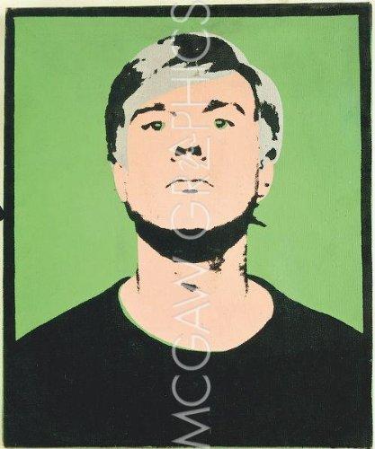 Self-Portrait, 1964 (sur le grün) von Andy Warhol Kunstdruck (Portrait Warhol Andy Self)