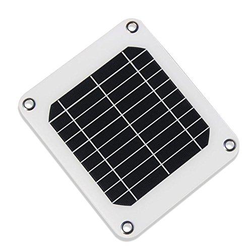nuzamas poartable 5W Panel Solar 5V USB cargador del teléfono iPhone recargable libre 4aleación clips