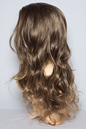 22-ladies-wavy-3-4-half-wig-dark-brown-blonde-tips