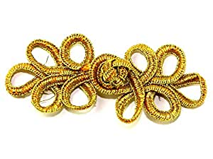 Chinese Button Frog Fasteners Gold - each