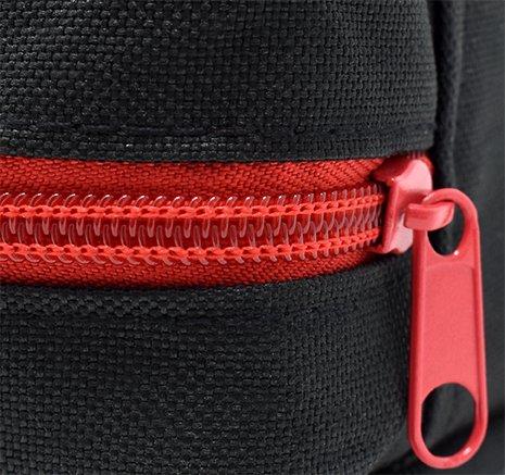 51io8A T20L - Botiquín primeros auxilios SUPER ROL con 120 artículos indispensables para realizar curas de emergencia (NEGRO)