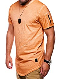 MT Styles Oversize Zipper T-Shirt C-9042