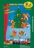 Fischer Fensterbild LUSTIGES BAUMSCHMÜCKEN / Bastelpackung / Größe: 48 x 70 cm / zum Selberbasteln / Basteln zu Weihnachten mit Papier und Pappe
