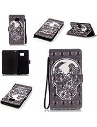Chreey Coque Samsung Galaxy Note 7 / Note 6 (5.7 pouces)(3D-visuel),PU Cuir Portefeuille Etui Housse Case Cover ,carte de crédit Fentes pour ,idéal pour protéger votre téléphone