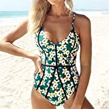 WESYY Traje De Baño Bikini-Mujer Push-upTrajes de baño Tops y Braguitas Green Medium