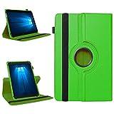 Odys Thor 10 plus 3G Robuste Universal Tablet Schutzhülle aus hochwertigem Kunstleder Hülle Tasche Standfunktion 360° Drehbar kombiniert Schutz und Design in 9 verschiedenen Farben Cover Case Universal Schutzhülle , Farben:Grün