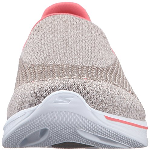 Skechers Go Walk 4-Kindle, Baskets Basses Femme, Black / Heather/Pink Beige (Tpcl)