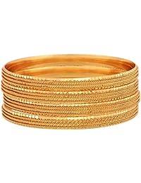 Zeneme Traditional Gold Plated Designer Bangles Jewellery for Women/Girls