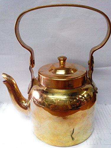 brass handcrafted tea kettle