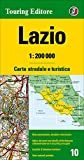 Lazio 1:200.000. Carta stradale e turistica. Ediz. multilingue