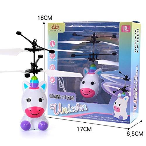 Swteeys Kinder Mini-Infrarot-Sensing Lighting Flying Toy USB-Ladespielzeug App-Spielzeug