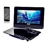 Lecteur DVD Portable 10,1, Lecteur DVD Portable Console TV Classique Rétro, 1024 * 800 Écran LED HD TFT Numérique 270 Support Rotatif Multi Support Format Carte SD et USB (Noir)