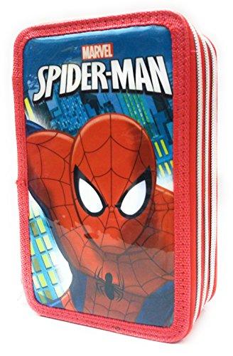 Spiderman–Estuche 3cremallera 36pz Disney