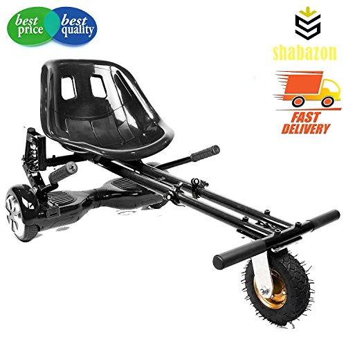 shabazon hovercart–verstellbar–für Kart für Hoverboard 16,5cm 20,3cm & 25,4cm Zoll Zwei Rad selbst Balancing Hoverboard, Schwarz