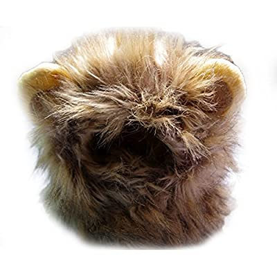 Yunt Pet Costume Lion Mane Wig for Dog Cat Halloween Dress up with Ears,Turns Your Pet Into a Ferocious Lion from pupproperty dog clothing