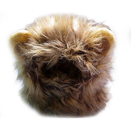 taonmeisu Löwenkostüm für Hund Katze Halloween Kleid bis mit Ohren, verwandelt Ihr Tier in ein wilder Löwe (Hund Halloween Kostüme König Der Löwen)