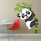 #5: BikriKendra baby panda (60 cm x 49 cm) Pvc Vinyl Wall sticker with 10 stickers
