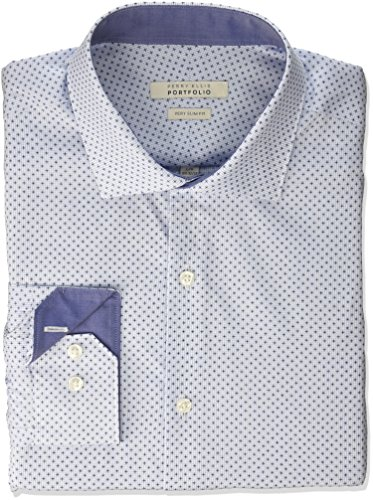 Perry Ellis herren   Hemd   -  blau -  (Ellis Herren-hemd Perry)