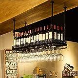 Wine Rack - Weinregal Hängen Schmiedeeisen Bar Family Cabinet Kreative Cup Holder Felice Home (Farbe : SCHWARZ, größe : 100cm*35cm)