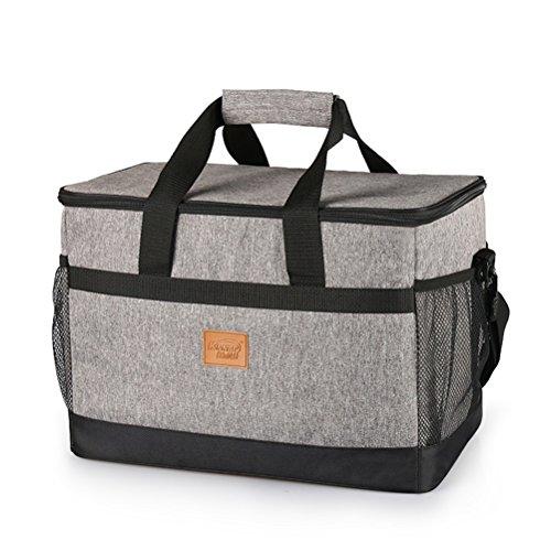 Borsa termica da pranzo aosbos grande 33l borsa termica da viaggio borsa da picnic (grigia)