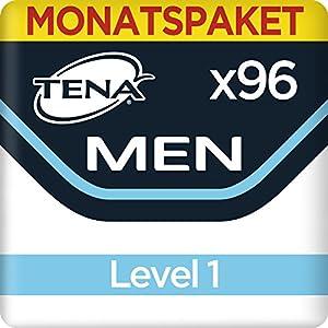 Tena Men Level 1, Monats-Paket mit 96 Einlagen (8 Packungen je 12 Einlagen)