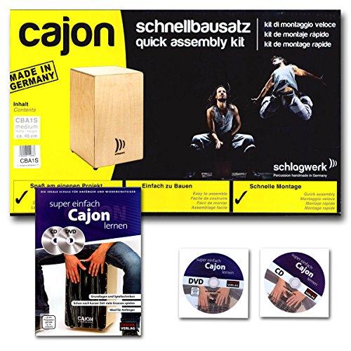 Schlagwerk CBA 1S My Cajon Bausatz + Cajon Schule mit CD und DVD (Elektronik-bausätze-projekte)