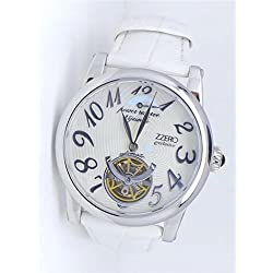 Zzero Women's Automatic Watch zm2901a Quandrante Steel White Leather Strap