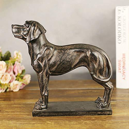 Meipa Kreativ im europäischen Stil Hauptdekorationen Resin Crafts-kreative Geschenk-Großverkauf-Antike Hound Dog-Ornament (27 * 9 * 25cm) -