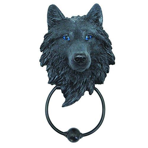NN Türklopfer dunkler Wolf Wolfs Figur