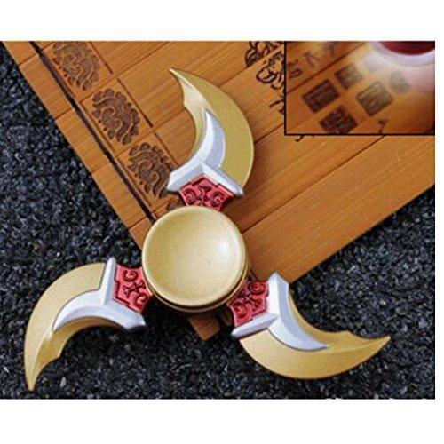 Preisvergleich Produktbild RuesiousHand Spinner High Speed Edelstahl Lager Stress Reducer Relief Finger Spielzeug für ADD, ADHS, Angst und Autismus Erwachsene Kinder töten Zeit Gold