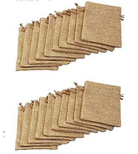 20pcs yute arpillera yute cordón bolsas sacos almacenamiento