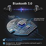Arbily Auricolari Bluetooth Cuffie Wireless con 3000 mAh Scatola Ricarica Portatile, Auricolare Hi-Fi Stereo Invisibile Leggeri, Earbuds Palestra Sport Gym con Microfono (Blu)