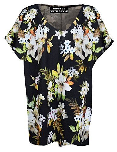 Generic -  T-shirt - Donna Multi Floral