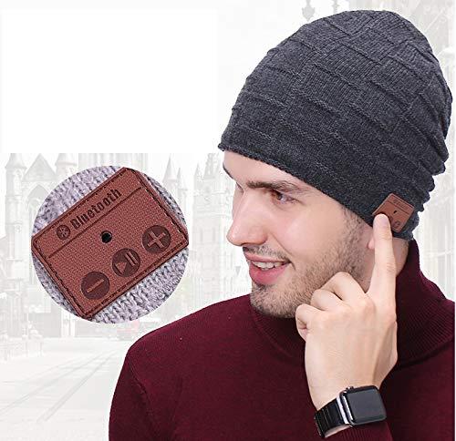 SEGMART Bluetooth Beanie mütze mit kopfhörern, warm Weich Beanie für Damen und Herren mit Fleecefutter