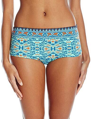 Sperry-Sider Women's Beachside Bohemia Surf Short Bikini Bottom, Aquamarine, X-Small Sperry Shorts