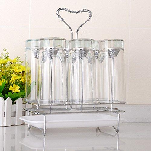 YMJ semplice capovolto porta tazze, Porta di vetro Tumbler Holder